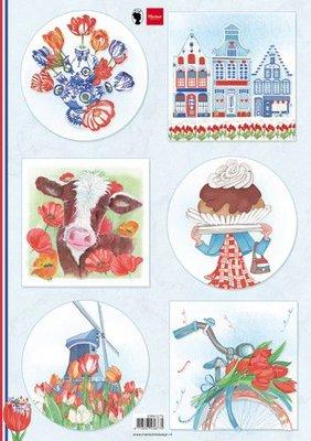 Marianne D Knipvellen I love Holland - Tulpen EWK1275 A4