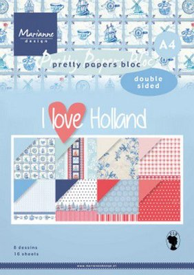 Marianne D Paperpad I love Holland A4 PK9168 A4