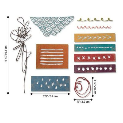 Sizzix - Thinlits Die Set 11PK Media Marks 664436 Tim Holtz
