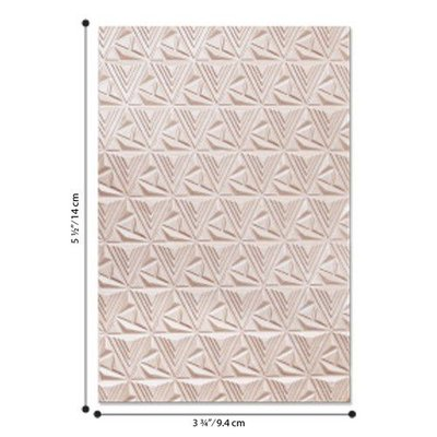 Sizzix - 3-D Textured Impressions Emb. Folder Geometric Lattice 664425 Jessica Scot