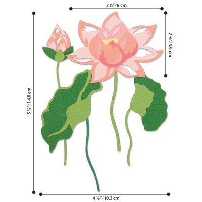 Sizzix Thinlits Die Set - 16PK Layered Water Flower 663867 Lisa Jones