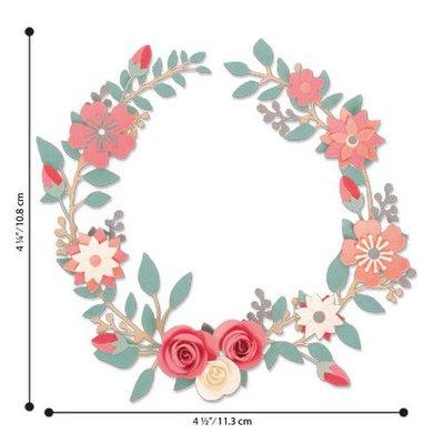 Sizzix Thinlits Die Set - 6PK Wedding Wreath 663862 Olivia Rose