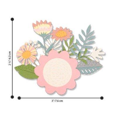 Sizzix Thinlits Die Set - 15PK Floral Tropics 663854 Sophie Guilar