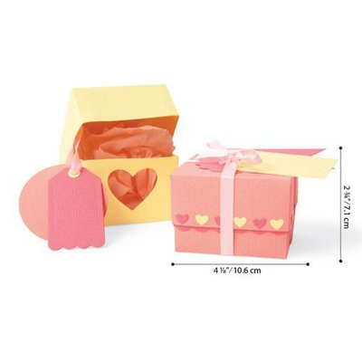 Sizzix Thinlits Die Set - 10PK Box & Labels 663853 Jenna Rushforth