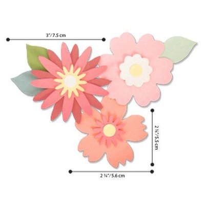 Sizzix Bigz Die - Bold Blossoms 663849 Laura Kate