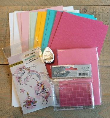 Kinderknutselpakket nr. 2 - Unicorn Stempelkaarten