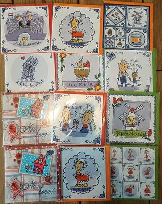 Wenskaartenpakket nr. 4 - Diversen vierkant - 15 stuks