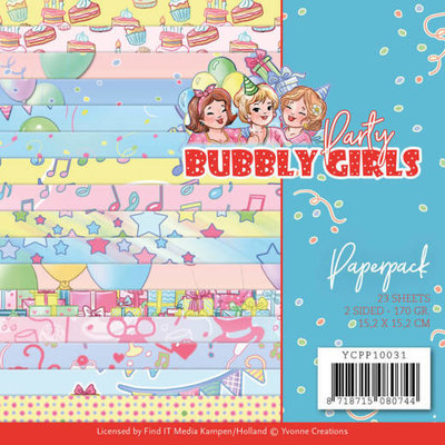 YCPP10031 Paperpack - Yvonne Creations - Bubbly Girls - Party