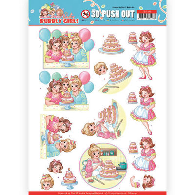 SB10440 3D Pushout - Yvonne Creations - Bubbly Girls - Party - Baking