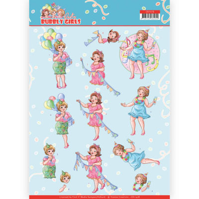 CD11478 3D cutting sheet - Yvonne Creations - Bubbly Girls - Party - Party Time