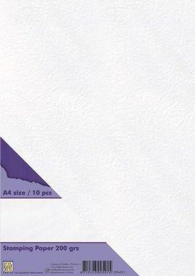 Nellie's Choice Stempel papier 200 gr wit STPA001 A4