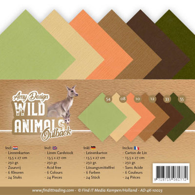 AD-4K-10023 Linen Cardstock Pack - 4K - Amy Design - Wild Animals Outback
