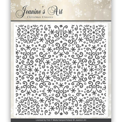 JAEMB10001 Embossing Folder - Jeanines Art - Christmas Classics