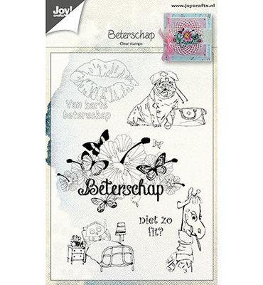 6410/0461 Joy Craft's - Clear Stamp - Beterschap NL 105x148mm