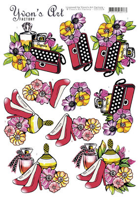 CD11524 3D cutting sheet - Yvon's Art - Handbag Perfume