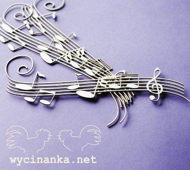 C003 Chipboard - Wycinanka - Muziek 4,7 x 14,8 cm