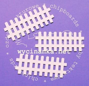 C006 Chipboard - Wycinanka - Hek - 4x10cm - 3 stuks