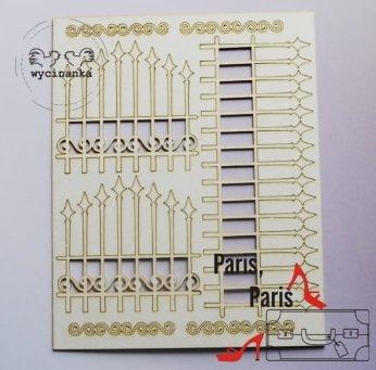 C007 Chipboard - Wycinanka - Hek - 14,4x18cm