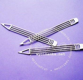 C010 Chipboard - Wycinanka - Potloden - 14cm - 3 stuks