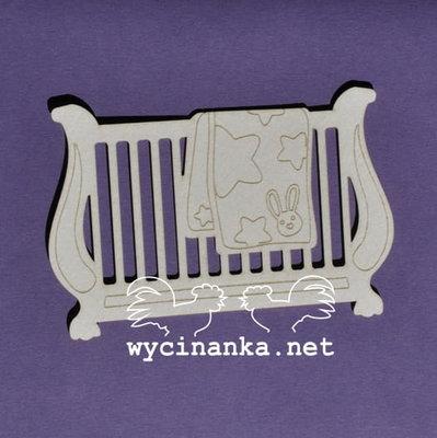 C012 Chipboard - Wycinanka - Ledikant - 6,2x7,5 cm - 1 stuk