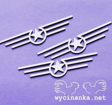 C014 Chipboard - Wycinanka - Ornament - 2,1x9,3 cm - 3 stuks