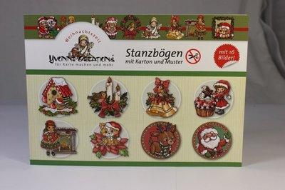 Yvonne Creations - Pushoutboek met karton - Kerst - Duits!