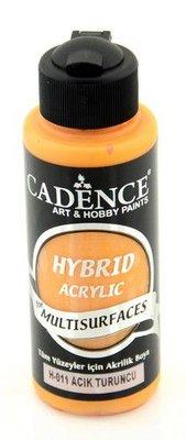 Cadence Hybride acrylverf (semi mat) Lichtoranje 01 001 0011 0120  120 ml