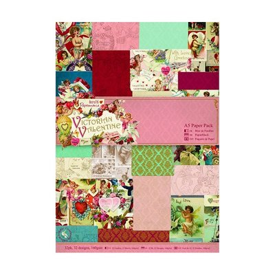 PMA160175 Do Crafts Papermania - A5 Paper Pack (32pk) - Victorian Valentine