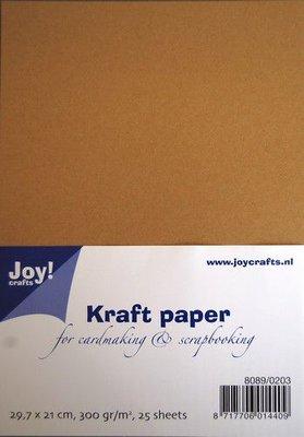 Joy! Crafts Kraft Papier A4 29,7x21 cm 25vl 8089/0203 300gr