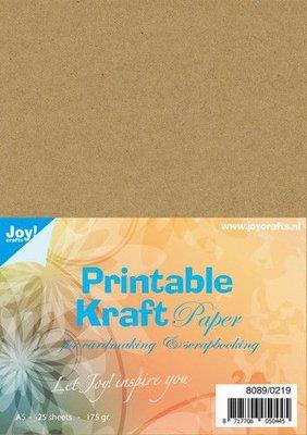 Joy! Crafts Printable Kraftpapier A5 25vl 8089/0219 175gr