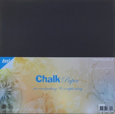 Joy! Crafts Krijtpapier Chalkpaper 30,5x30,5 cm 25vl 8089/0208 250gr
