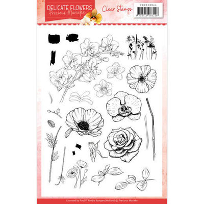 PMCS10044 Clear Stamps Precious Marieke Delicate Flowers
