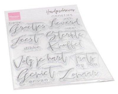 Marianne Design Clear Stamps Handgeschreven - Groetjes (NL) CS1063 115 x 185 mm