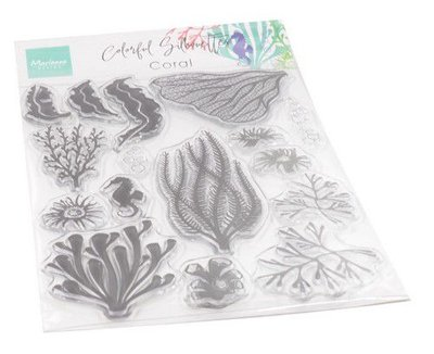 Marianne Design Clear Stamps Colorfull Silhouette - Koraal CS1062 115 x 185 mm