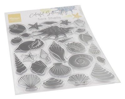 Marianne Design Clear Stamps Colorfull Silhouette - Zee Schelpen CS1061 115 x 185 mm