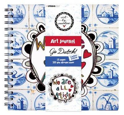 Studio Light Spiral Bound Journal Art By Marlene Go Dutch Coll. 10 JOURNALBM10 21x20cm