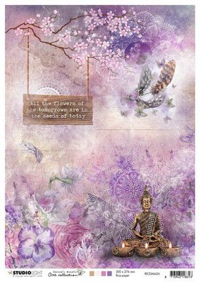 Studio Light Rice Paper A4 vel Jenine's Mindful Art 4.0 nr.26 RICEJMA26