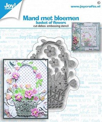 Joy! Crafts Snij-debos-embosstansmal - bloemen mand 6002/1454 50x68 mm