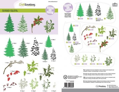CraftEmotions clearstamps A5 - Step by Step - Christmas Nature