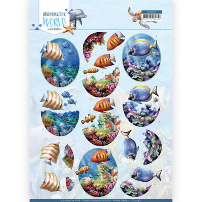 CD11498 3D Cutting Sheet - Amy Design - Underwater World - Saltwater Fish