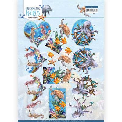 CD11497 3D Cutting Sheet - Amy Design - Underwater World - Sea Animals