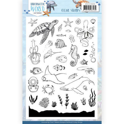 ADCS10068 Clear Stamps - Amy Design - Underwater World