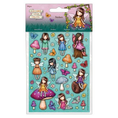 GOR804111 Stickers (84pcs) - Santoro - Faerie Folk