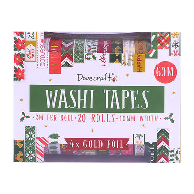 Dovecraft Washi Tape Set Traditional (20pcs) (DCWTB052X19)