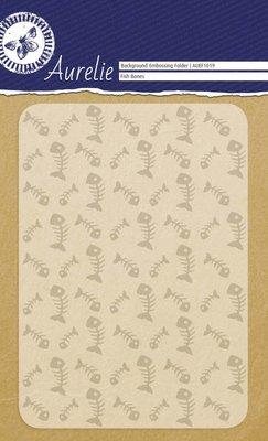 Aurelie Fish Bones Background Embossing Folder (AUEF1019)
