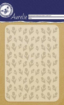 Aurelie Tulips Background Embossing Folder (AUEF1021)