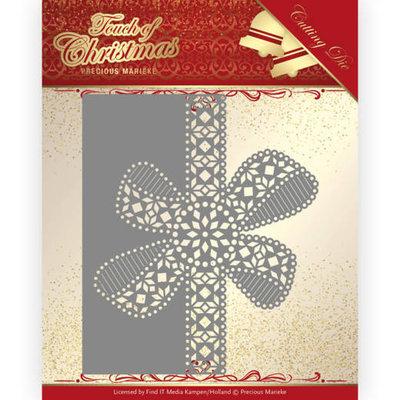 PM10183 Dies - Precious Marieke - Touch of Christmas - Christmas Bow Border