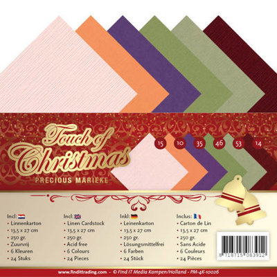 PM-4K-10026 Linen Cardstock Pack - 4K - Precious Marieke - Touch of Christmas
