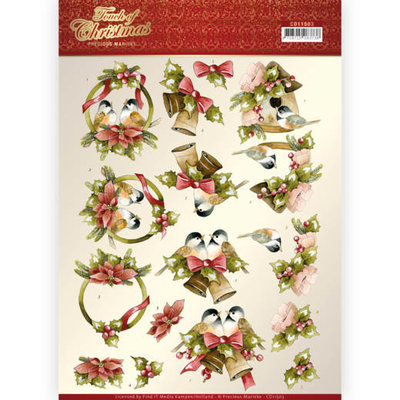 CD11503 3D cutting sheet - Precious Marieke - Touch of Christmas - Birds