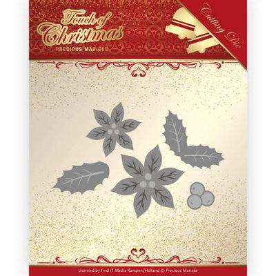 PM10187 Dies - Precious Marieke - Touch of Christmas - Poinsettia